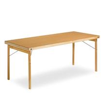 Skládací stůl Amber, 1800x700 mm, lakovaná dřevovláknitá deska/dřevěné nohy