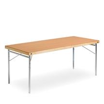 Skládací stůl Amber, 1800x700 mm, HPL buk, kovové nohy