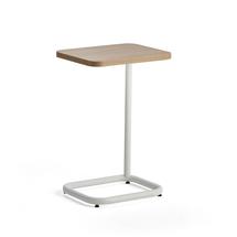 Stolek na notebook Standby, 425x350x647 mm, bílý, deska dub