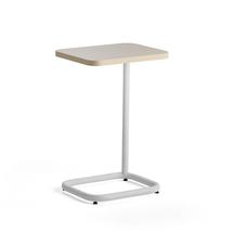 Stolek na notebook Standby, 425x350x647 mm, bílý, šedobéžová deska