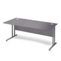 Kancelářský stůl Flexus, 1600x800 mm, šedá
