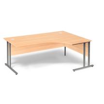 Psací stůl Flexus, pravý, 1800x1200 mm, buk