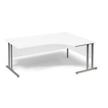 Psací stůl Flexus, pravý, 1800x1200 mm, bílá
