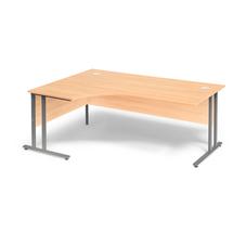 Psací stůl Flexus, levý, 1800x1200 mm, buk