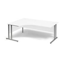 Psací stůl Flexus, levý, 1800x1200 mm, bílá
