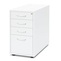 Zásuvkový kontejner Flexus, 4 zásuvky, nožičky, 720x400x800 mm, bílý