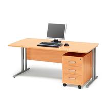 Kancelářská sestava Flexus: stůl 1600x800 mm + 3zás. kontejner, buk