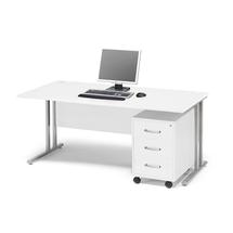 Kancelářská sestava Flexus: stůl 1600x800 mm + 3zás. kontejner, bílá