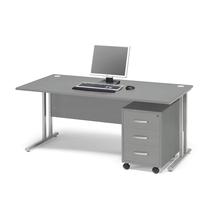 Kancelářská sestava Flexus: stůl 1600x800 mm + 3zás. kontejner, šedá