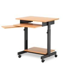 PC stůl, 700-820x700x500 mm, buk/černá
