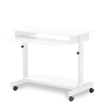 Výškově nastavitelný PC stůl, bílá, 700-820x780x500 mm