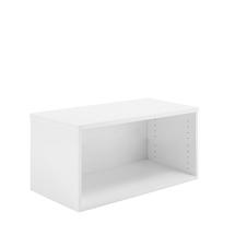 Policová knihovna Modulus, výška 400 mm, bílá