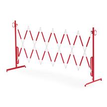 Roztahovací zábrana, bez koleček, max. 3000 mm, červená/bílá