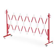 Roztahovací zábrana, s kolečky, max. 3000 mm, červená/bílá