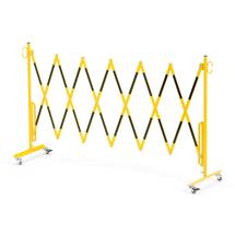 Roztahovací zábrana, s kolečky, max. 3000 mm, žlutá/černá