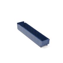 Plastový box Detail, 500x94x80 mm, modrý