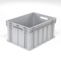 Plastová přepravka Euro, 165 l, 800x600x415 mm, šedá
