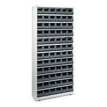 Regál se 72 plastovými boxy, 2000x950x270 mm, šedé boxy