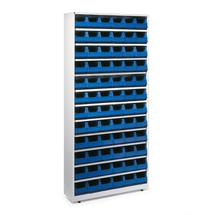 Regál se 72 plastovými boxy, 2000x950x250 mm, modré boxy
