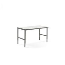 Pracovní stůl Cargo, 1600x750 mm, bílá laminátová deska, šedý rám