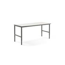 Pracovní stůl Cargo, 2000x750 mm, bílá laminátová deska, šedý rám