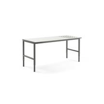 Pracovní stůl Cargo, s kuličkami, 2000x750 mm, bílá deska, šedý rám