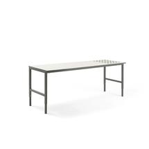 Pracovní stůl Cargo, s kuličkami, 2400x750 mm, bílá deska, šedý rám