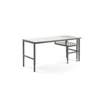 Pracovní stůl Cargo, s kuličkami a výsuvnou deskou, 2000x750mm, bílá deska, šedý