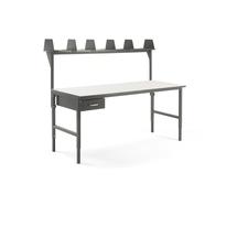 Pracovní stůl Cargo, 2000x750 mm, 1 zásuvka + vrchní police