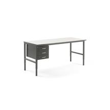 Pracovní stůl Cargo, 2000x750 mm, 3 zásuvky + vrchní police