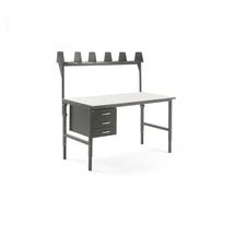 Pracovní stůl Cargo, 1600x750 mm, 3 zásuvky + vrchní police