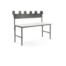Pracovní stůl Cargo, 2000x750 mm, vrchní police + panel na nářadí