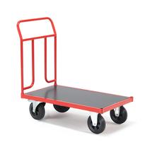 Plošinový vozík, 1000x600mm, gumová kola, s brzdou