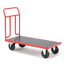 Plošinový vozík, 1250x700mm, gumová kola, s brzdou