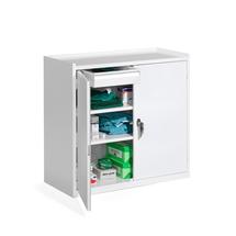 Kovová skříňka Serve, 900x950x450 mm, bílá