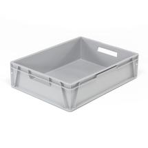 Plastová přepravka Euro, 80 l, 800x600x200 mm, šedá