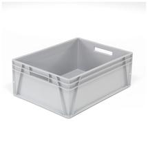 Plastová přepravka Euro, 123 l, 800x600x300 mm, šedá