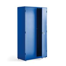 Dílenská kovová skříň, 1900x1020x500 mm, modrá, bez polic