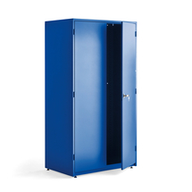 Dílenská kovová skříň, 1900x1020x635 mm, modrá, bez polic
