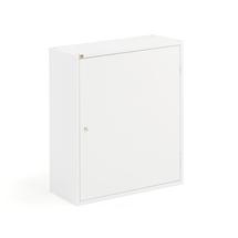 Kovová skříňka, 4 police, 800x660x275 mm, bílá