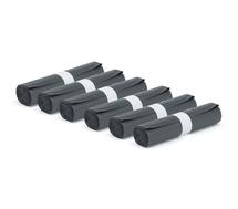Pytle na odpad, 6 rolí (25 ks/role), 125 l, černé