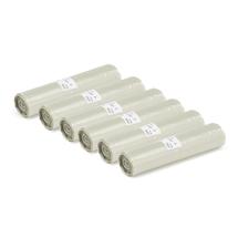 Pytle na odpad, 6 rolí (25 ks/role), 125 l, průhledné