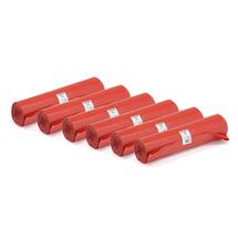 Pytle na odpad, 6 rolí (25 ks/role), 125 l, červené