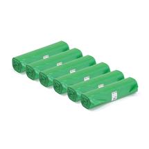 Pytle na odpad, 6 rolí (25 ks/role), 125 l, zelené