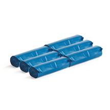 Pytle na odpad, extra silné, 6 rolí (10 ks/role), 125 l, modré
