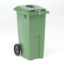 Nádoba na tříděný odpad Edward, 190 l, kruhový otvor, zelená