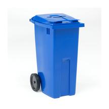 Nádoba na tříděný odpad Edward, 190 l, otvor na papír, modrá