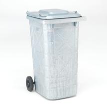 Nádoba na odpad Edward, 240 l, galvanizovaná ocel