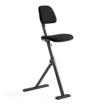 Pracovní židle, textilní potah, černá