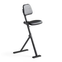Pracovní židle, syntetická kůže, černá